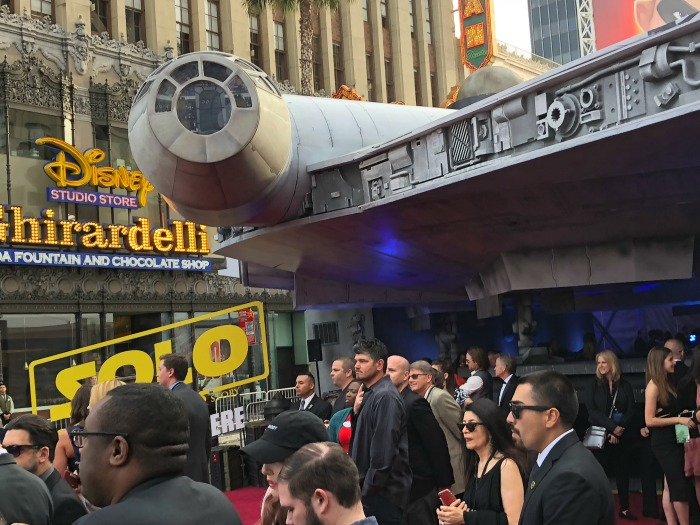 Millenium Falcon at Solo Premiere