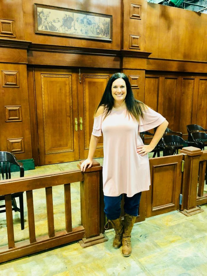 General Hospital set visit courtroom set