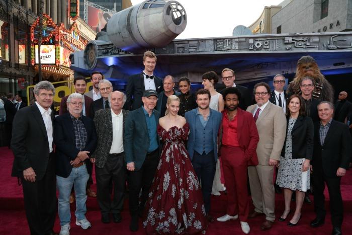Solo premiere - cast photo