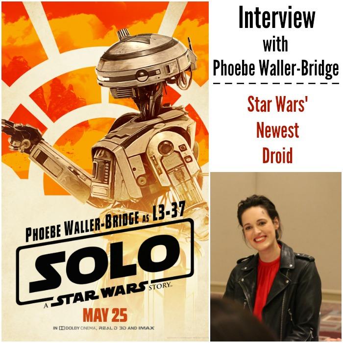 L3-37 Phoebe Waller-Bridge Star War's newest droid