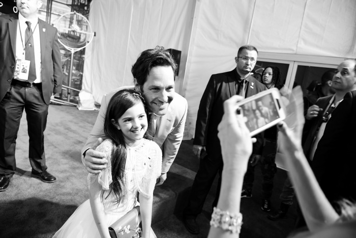 Paul Rudd Ant-Man and the Wasp global premiere with Abby Ryder Fortson