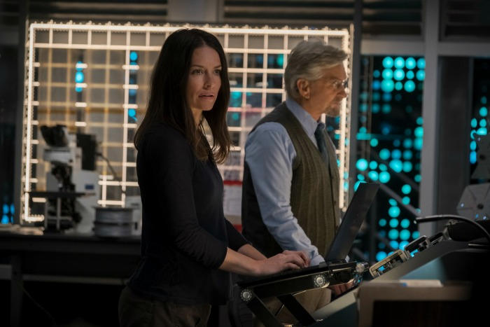 Evangeline LIlly and Michael Douglas
