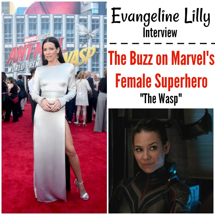Evangeline Lilly Ant-Man and The Wasp Interview - the buzz on marvel's female superhero