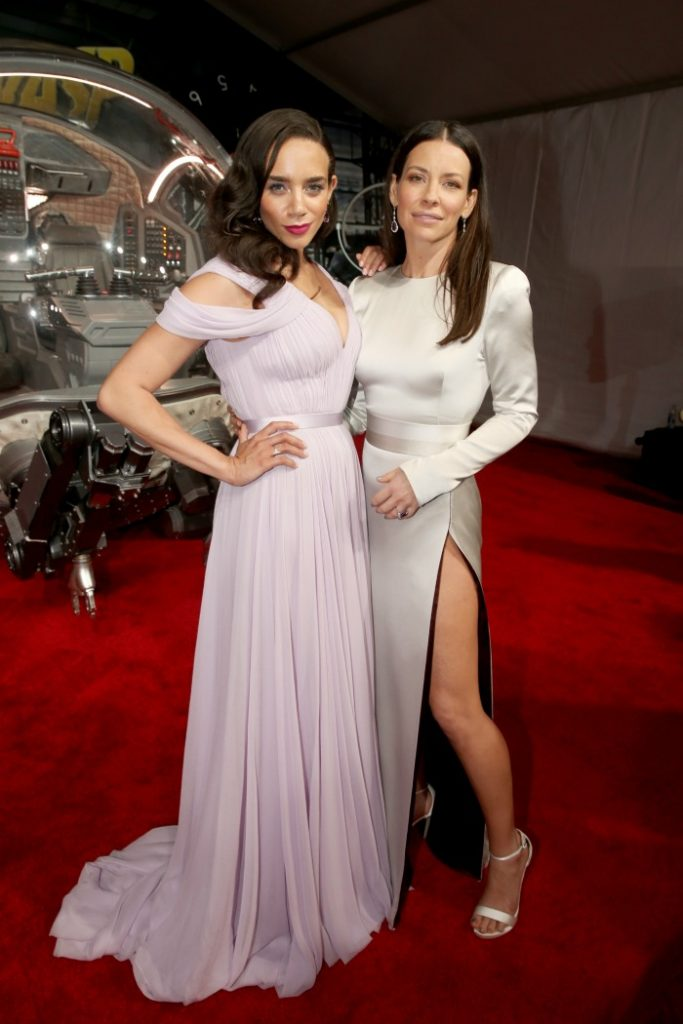 Hannah John-Kamen and Evangeline Lilly red carpet