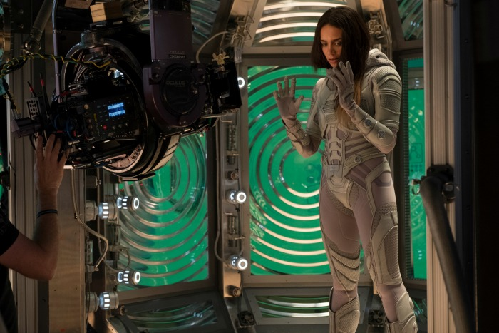 Hannah John-Kamen shooting scene in Ant-Man and the Wasp