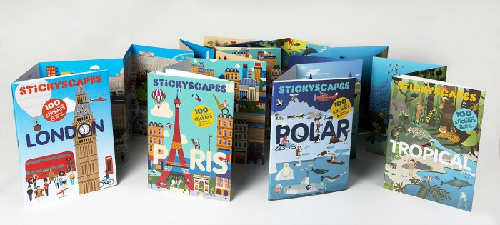Stickyscapes sticker books for kids