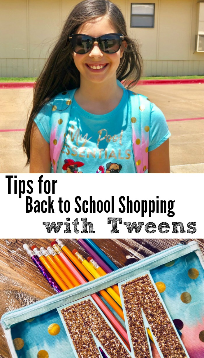 Tips for back to school shopping with tweens
