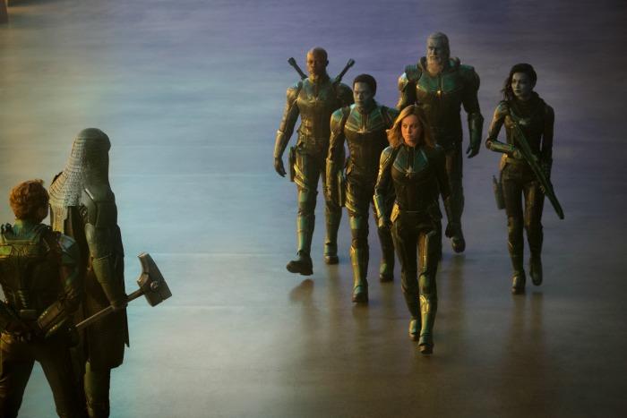 Captain Marvel cast scene