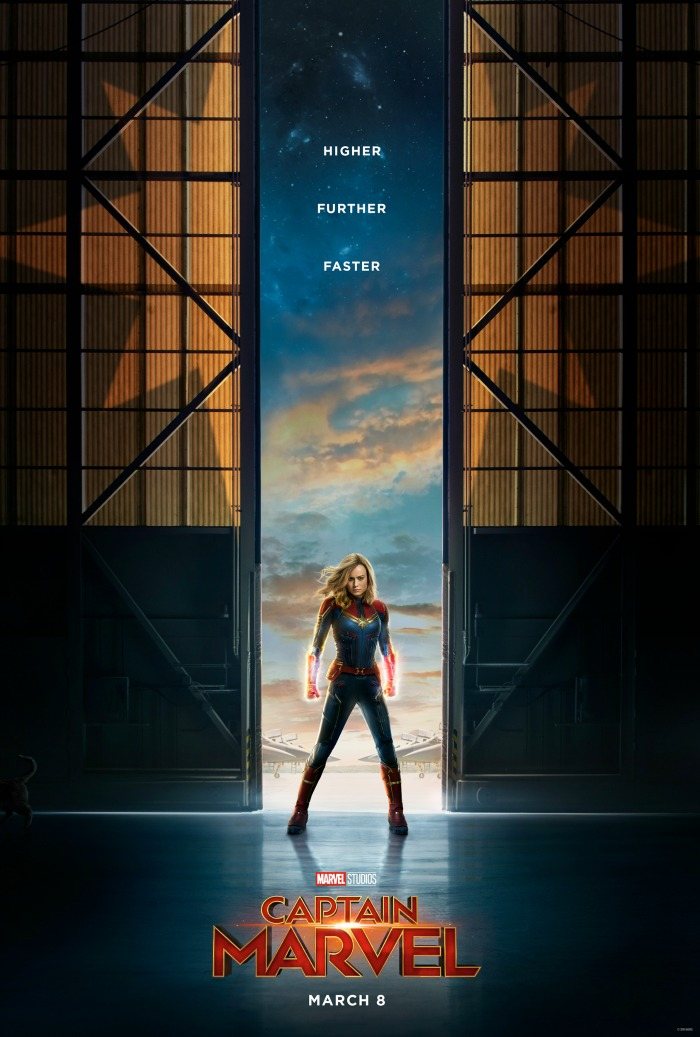 Captain Marvel poster and photos
