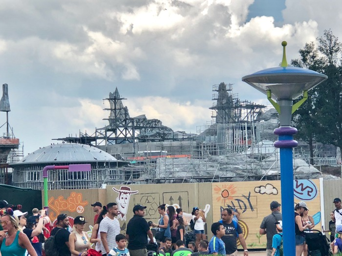 Star Wars Galaxy's Edge from Toy Story Land