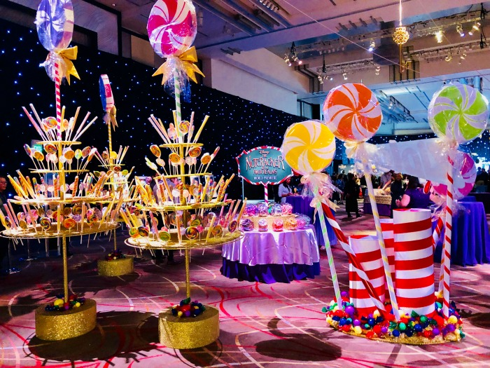 Nutcracker and the Four Realms red carpet premiere treats