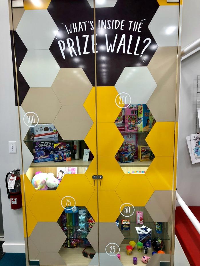 Explore Horizons prize wall