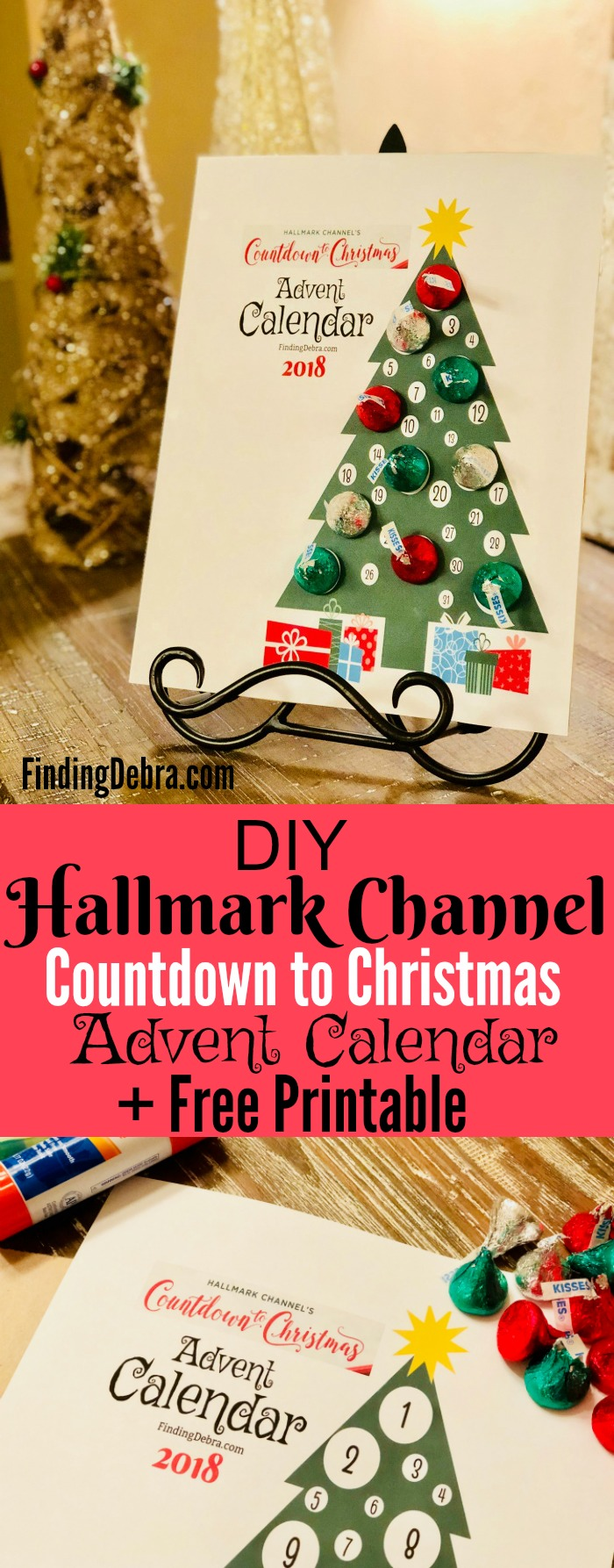 Hallmark Channel Countdown To Christmas Advent Calendar and Free Printable