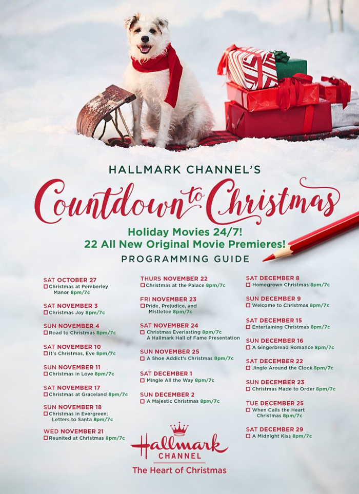 Hallmark Channel #CountdowntoChristmas 2018