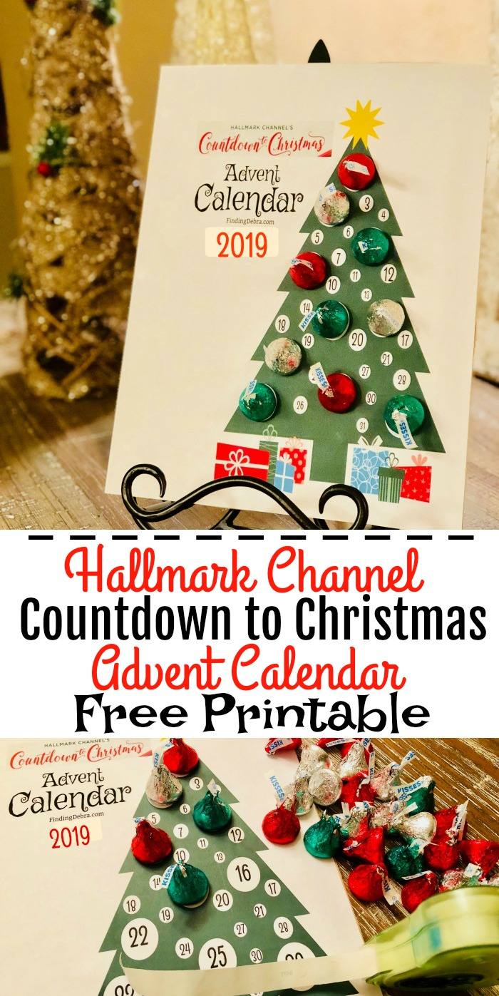 Hallmark Channel's Countdown to Christmas Advent Calendar Free Printable