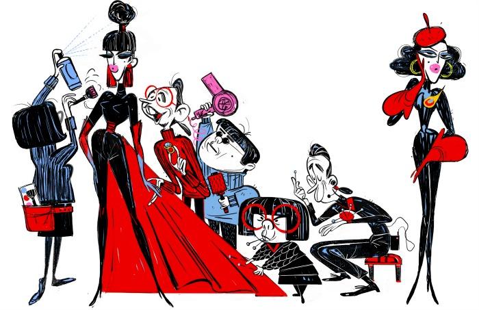 Incredibles 2 Edna concept art
