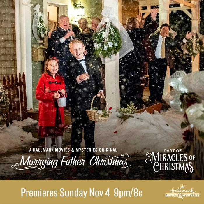 Marrying Father Christmas.Hallmark Movies Mysteries Marrying Father Christmas