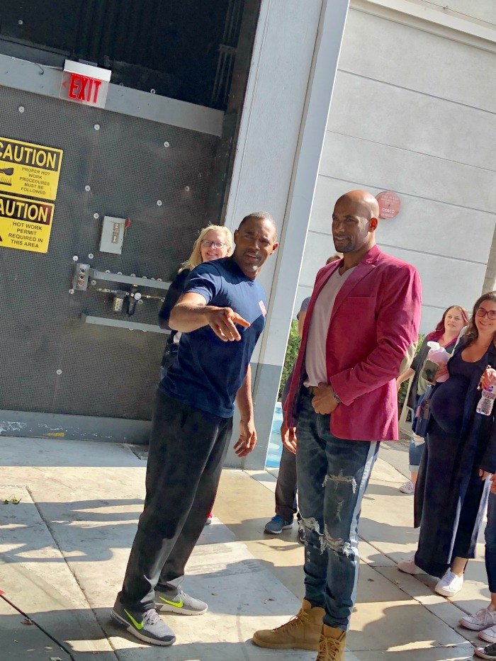Station 19 set visit with Jason George and Boris Kodjoe