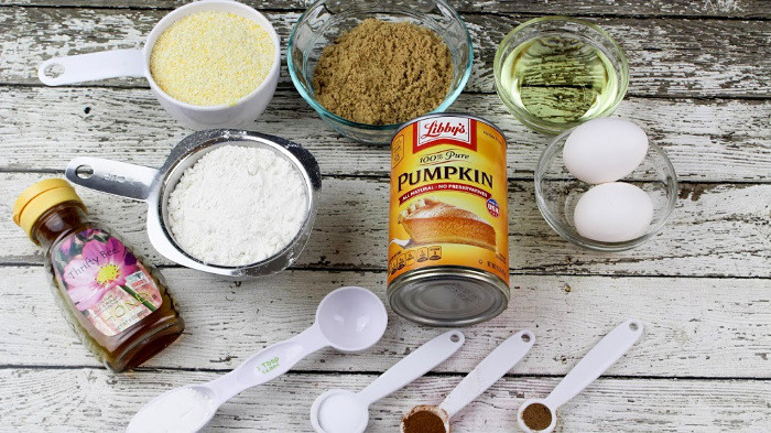 Sweet Pumpkin Cornbread ingredients