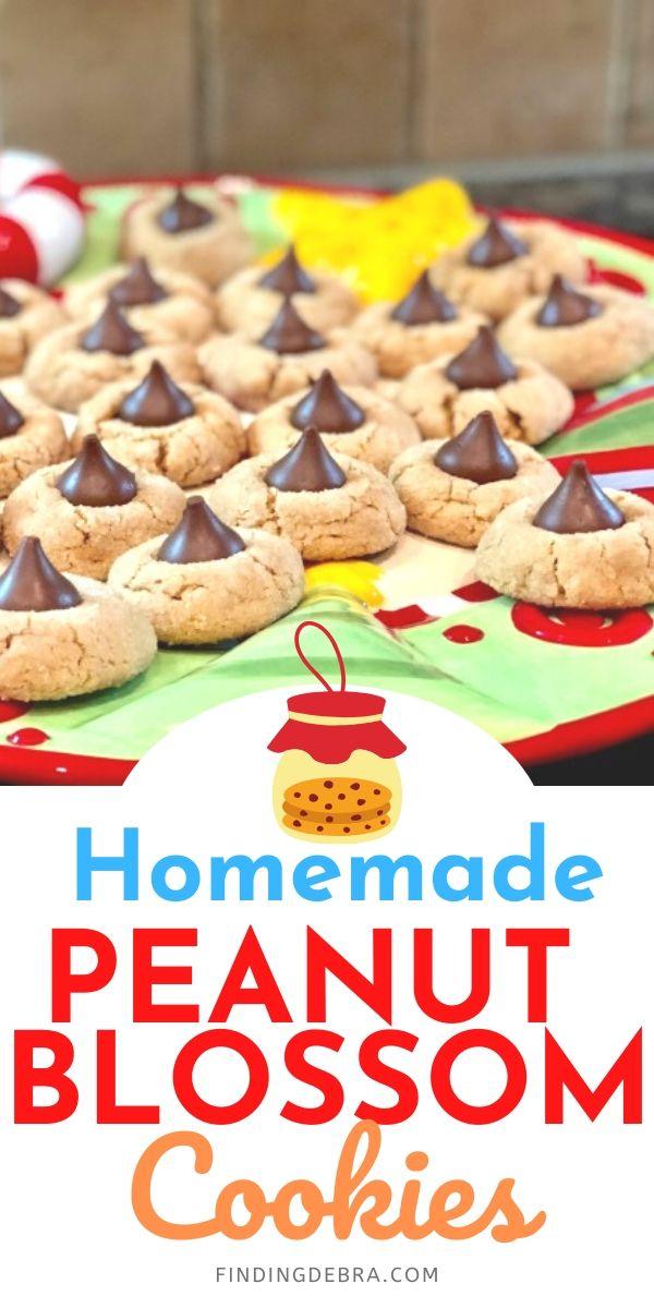 Homemade Peanut Blossom Cookies