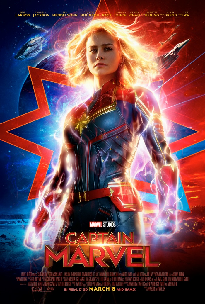 Captain Marvel poster 2019 movie slate