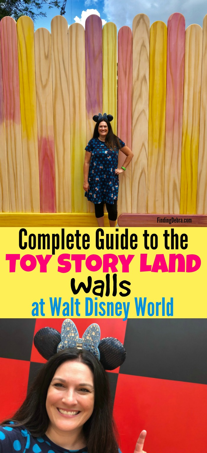 Complete guide to the Toy Story Land walls at Walt Disney World - Walt Disney World walls for Instagram and photograph spots