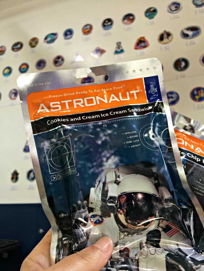 Space Center Houston things to do - astronaut food