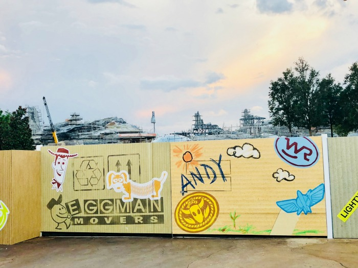 Toy Story Land Instagram Walls - Andy's Wall likely temporary