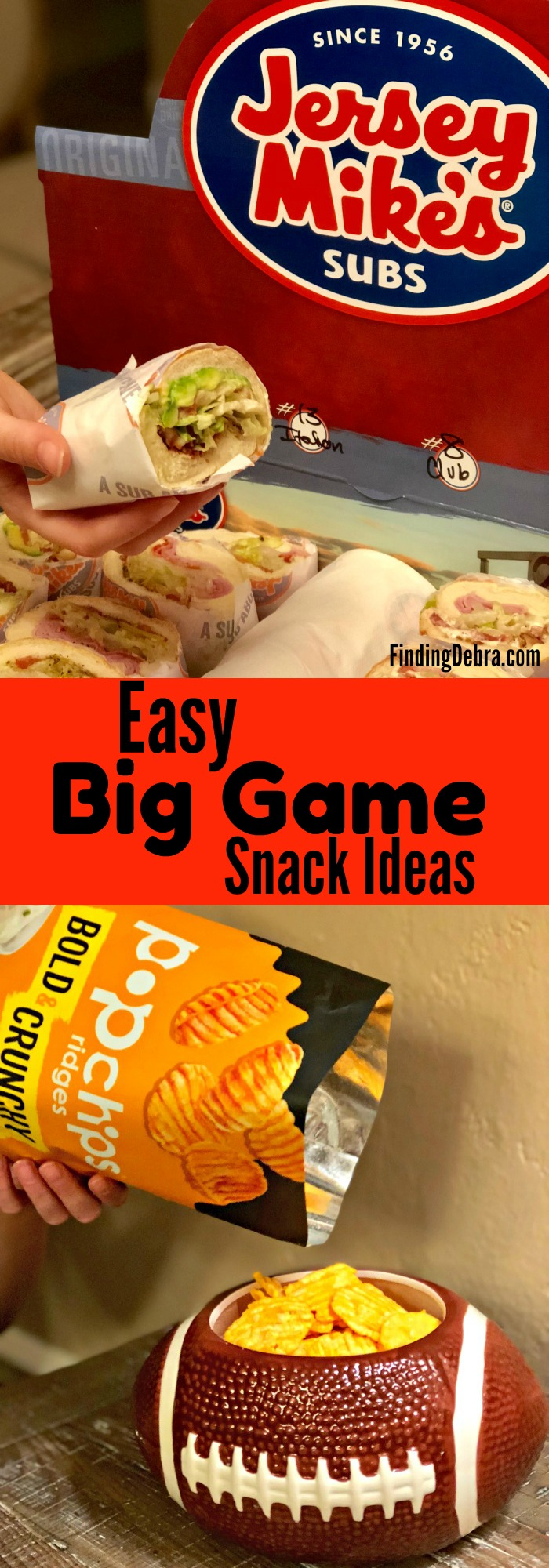 Easy Big Game Snack Ideas for gameday entertaining - football and more.