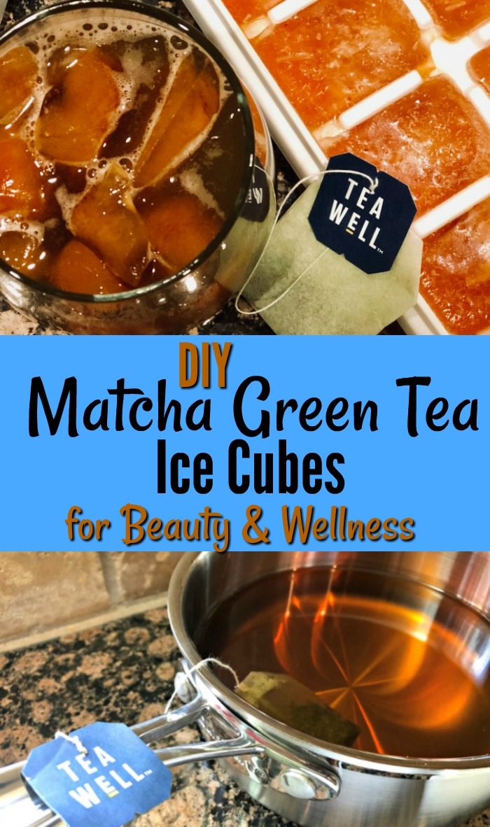 DIY Matcha Green Tea Ice Cubes for Beauty and Wellness