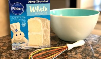 Make a White Cake Mix Chocolate