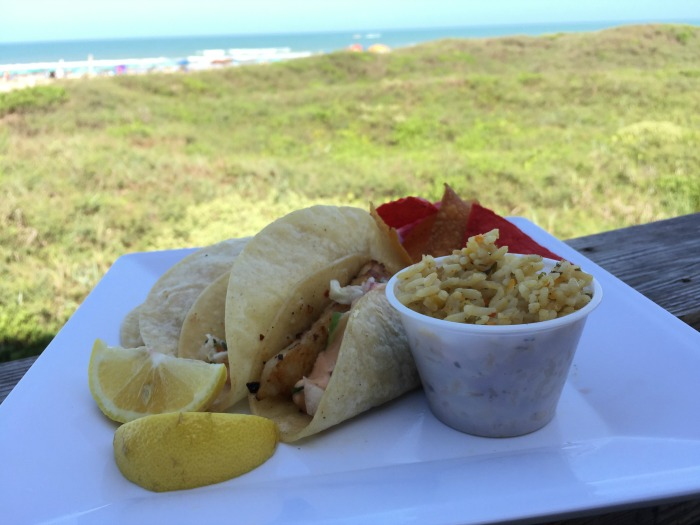 Beachfront dining in South Padre Island