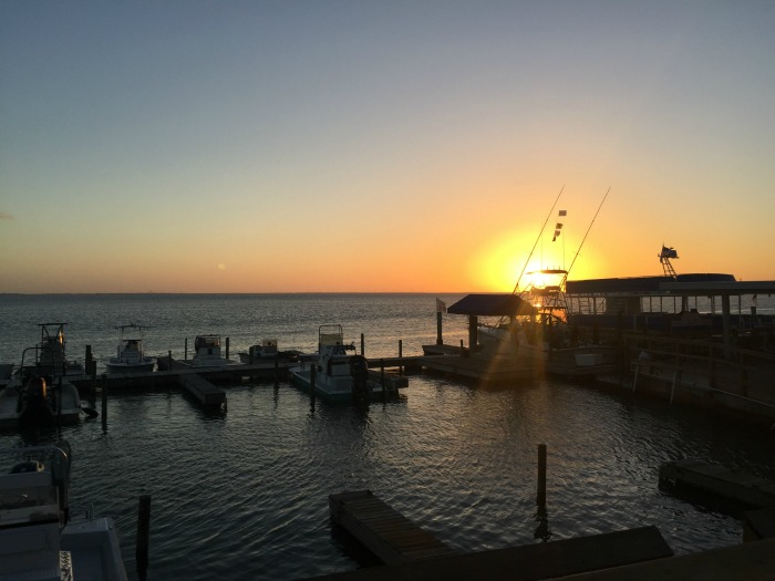 The Painted Marlin Grille South Padre Island at sunset