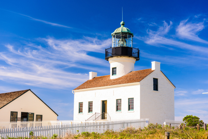 San Diego, California at the Old Loma Point Lighthouse.